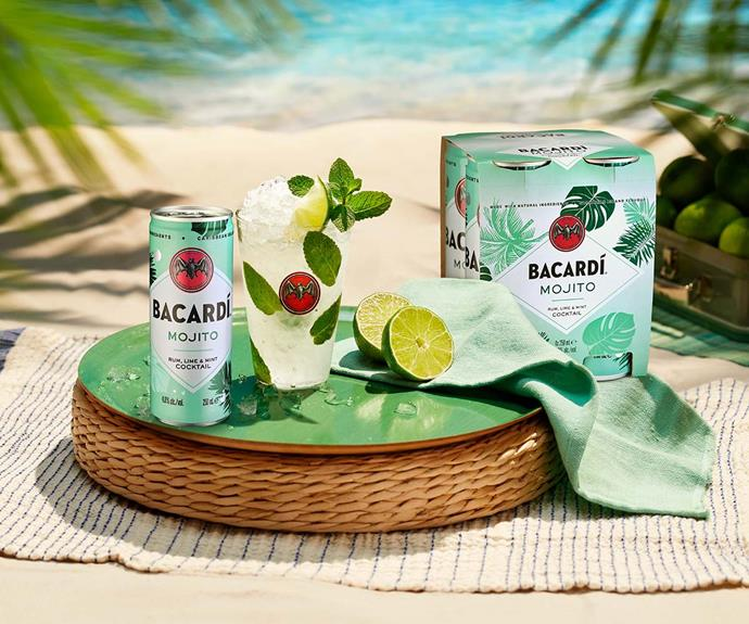 """[Shop **Bacardi Mojito** cans here for $21.90 for a pack of four.](https://fave.co/3lyLkYk