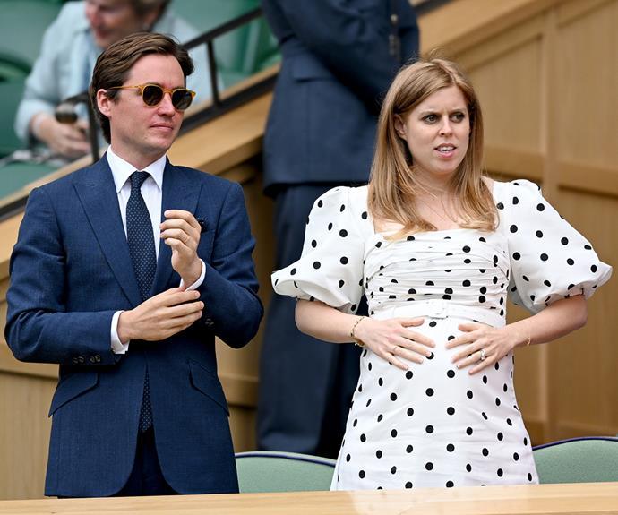 """In July the radiant mum-to-be [showed off her growing belly at Wimbledon](https://www.nowtolove.com.au/royals/british-royal-family/princess-beatrice-baby-bump-68318