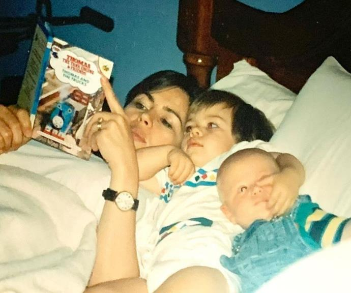 """Lisa's sons share the same birthday, but they aren't twins. Louis and Jake are two years apart, but their unique bond is quite the conversation starter. <br><br> To ring in Louis' 26th and Jake's 28th, Lisa shared this cute throwback picture of her reading to them as babies.  <br><br> She captioned the sweet moment, """"Happy birthday to my two beautiful boys, Jake and Louis. Keep shining your warm, gentle lights….xxx."""""""