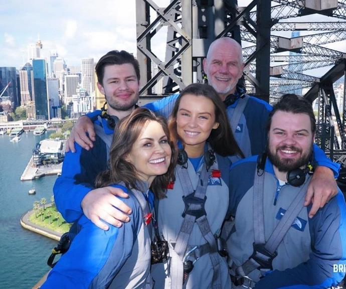 The Wilkinson-FitzSimons' take the Sydney Harbour Bridge.