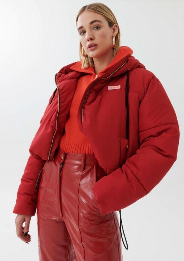 "Spice up windy walks with this Goalside Puffer Jacket In Chilli, $299.00, from P.E Nation. You can find it [here.](https://go.skimresources.com?id=105419X1569321&xs=1&url=https%3A%2F%2Fpe-nation.com%2Fproduct%2Fgoalside-puffer-jacket-in-chilli%3Fgclid%3DCjwKCAjw4qCKBhAVEiwAkTYsPGgmIq149vi1hY4CpJGQPJea4DA_AZ-xJSFzdFuMrpzYoXgS_KANQBoCnp4QAvD_BwE target=""_blank"")"