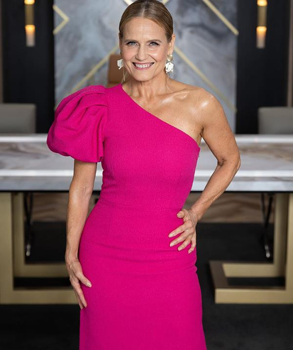 If there's one designer Shaynna goes back to time and time again, it's Rebecca Vallance. <br><br> The interior design sensation teamed the $729 'Natalia' frock with statement earrings from Sable and Dixie.