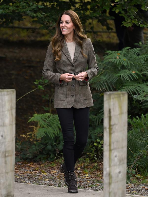 Catherine swapped her puffer jacket for a chic blazer to attend her second engagement.