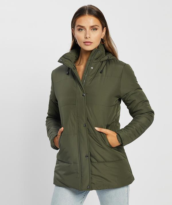 """[Shop the **Atmos&Here Lucy Long Puffer** here on sale for $83.99.](https://fave.co/2XFDrsw