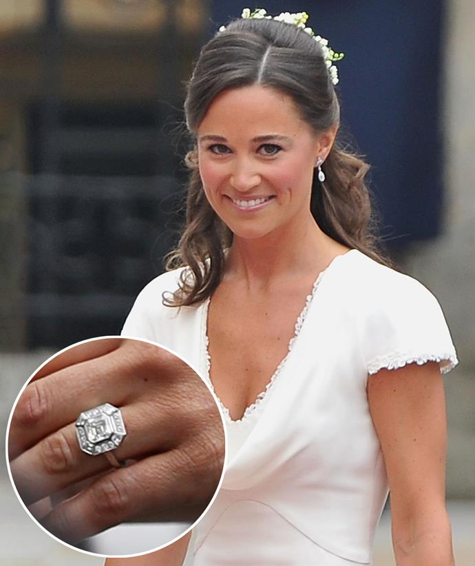 Pippa's ring is believed to be worth hundreds of thousands of dollars.