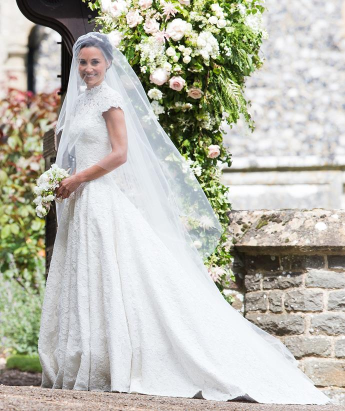 There's no denying the similarities between Pippa and Catherine's dresses.