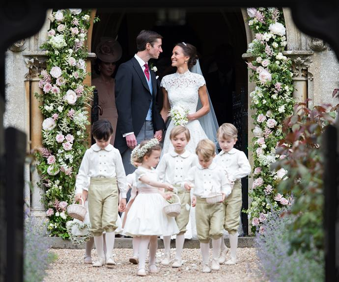Pippa included Prince George and Princess Charlotte in her wedding ceremony.