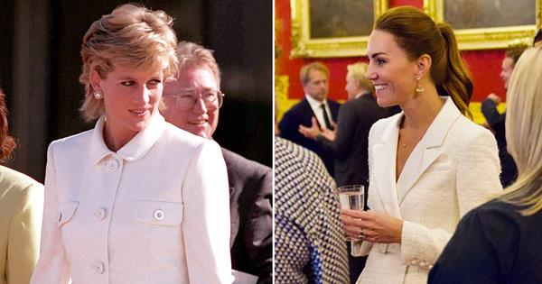 Duchess Catherine channels Princess Diana in all-white ensemble with a modern twist