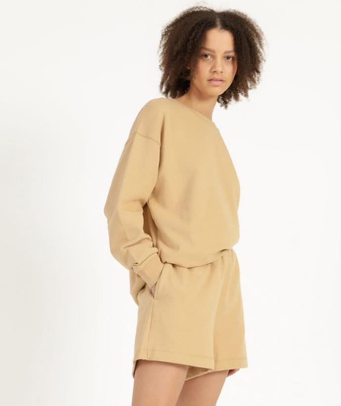 """[Shop the Miss Shop Track Short here for $25](https://fave.co/3kzeYgW target=""""_blank"""" rel=""""nofollow"""") and the [matching Crew Neck Sweat Top here on sale for $15](https://fave.co/3lN9zm0 target=""""_blank"""" rel=""""nofollow"""")."""