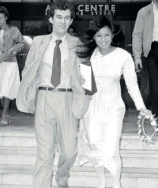 Jane and Jimmy photographed on their wedding day.