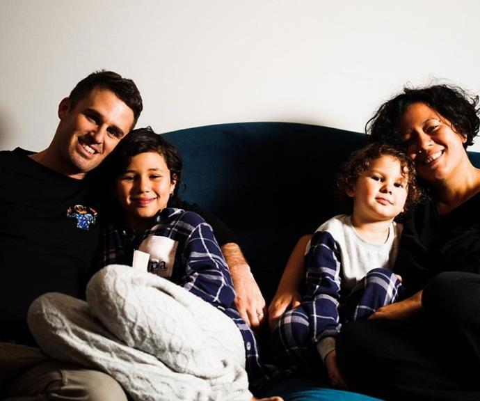 Mahalia shared this picture of her husband Ben Rodgers and their two daughters Ruby and Rosetta.