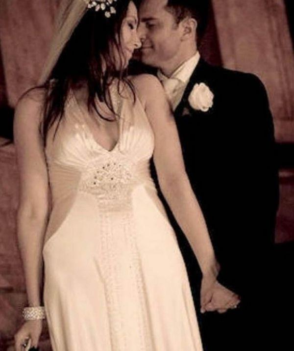 David and Lisa were looking deeply in love on their wedding day in 2008.