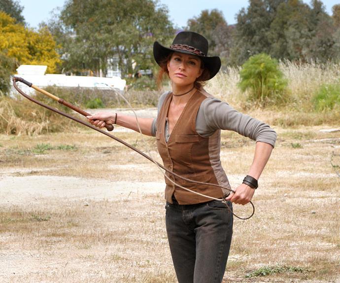 Simmone Jade Mackinnon as Stevie at Drovers Run.