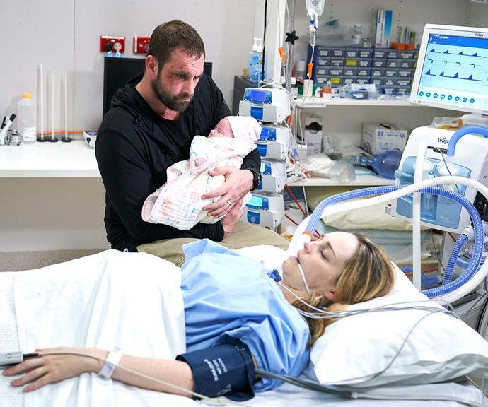 And for Tori, there was happiness, finally, when she gave birth to baby Grace, who she'd conceived through IVF with Robbo (Jake Ryan).