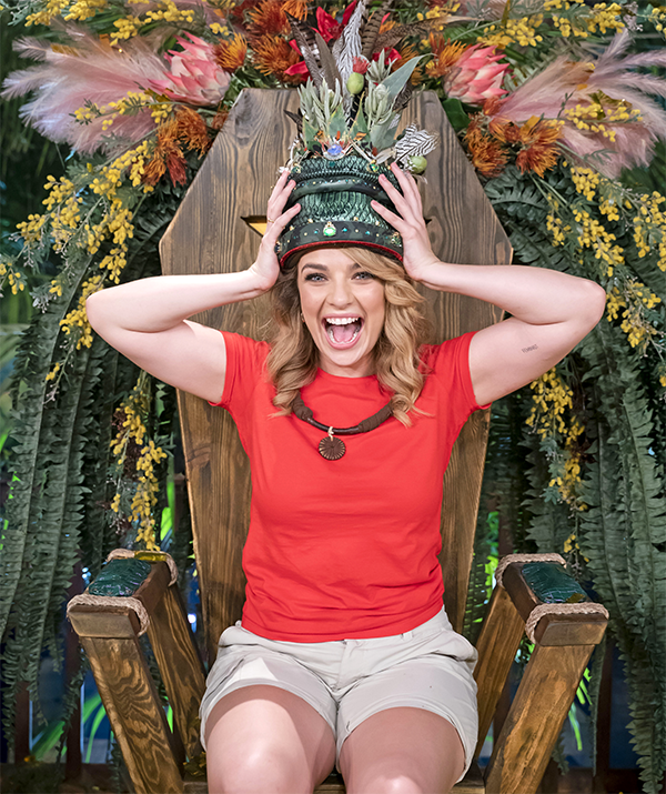 After being crowned Queen of the Jungle on *I'm a Celebrity Get Me Out Of Here*, she moved to Sydney. Since then, she's spent a significant amount of her time living alone in lockdown.