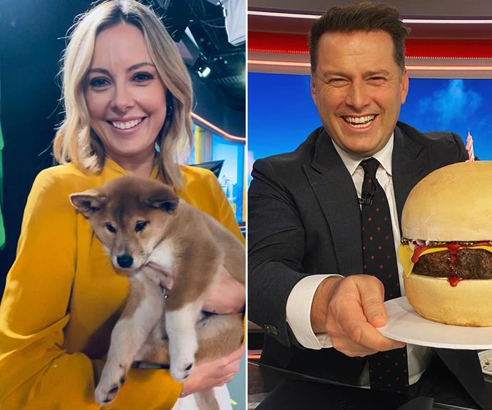 *Today* host Karl Stefanovic and his co-host Allison Langdon.