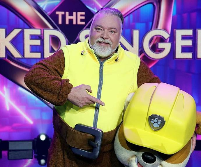 """**Rubble: Kyle Sandilands** <br><br> Making a one-episode special appearance on the show, Rubble from Paw Patrol really had the judges guessing - but one of them definitiely should have realised who it was under the mask. Jackie O couldn't believe her eyes when her radio co-host Kyle Sandilands appeared from under this mask. """"WHAT THE ACTUAL F, KYLE! 😱🤩"""" read a post on the radio show's Instagram."""