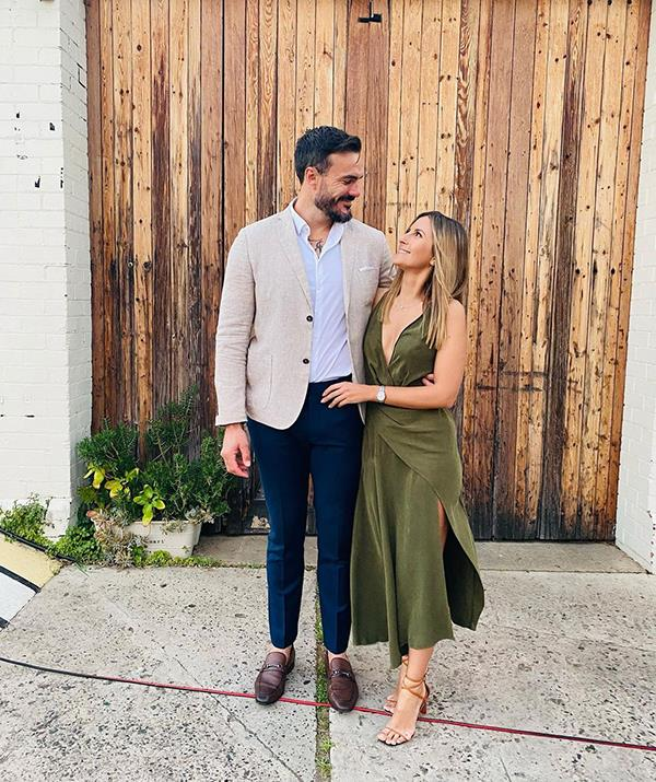 The couple are pictured attending the wedding of *Survivor* star Harry Hills Cook and his wife Jordan. <br><br> Locky met Harry while filming the fourth season of the adventure reality show.