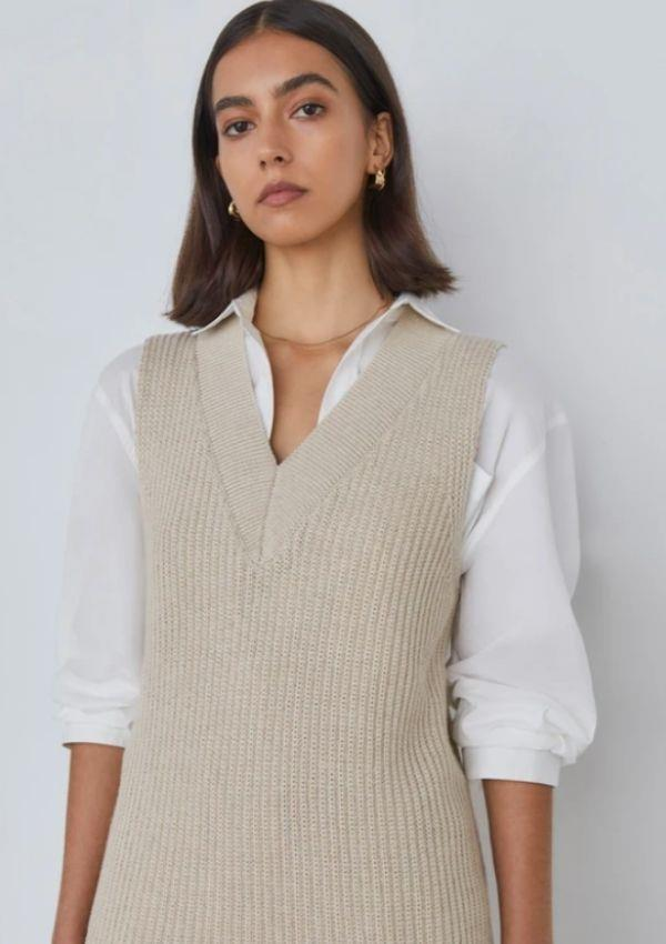 """Hewitt Vest, $260.00, from [Victoria Woods.](https://go.skimresources.com?id=105419X1569321&xs=1&url=https%3A%2F%2Fviktoriaandwoods.com.au%2Fcollections%2Fall%2Fproducts%2Fhewitt-vest-oyster-ivory