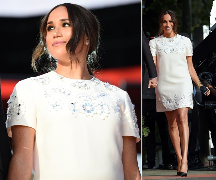 The duchess well and truly embraced her style evolution when she stepped out in a mini dress for the first time in years at the Global Citizen Live festival in September. The white embellished sheath design from Valentino showed off her legs and chic black heels, while she wore her hair in a loose, low ponytail. <br><br> Though this weekend has marked some of the first formal engagements the duchess has attended since her royal exit in March 2020, she's been showing signs of a style evolution for months now. Scroll through to see all the hints that Meghan has been embracing port-royal fashion since her exit.