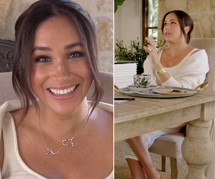 """The duchess embraced another casual outfit for a [video released on her 40th birthday](https://www.nowtolove.com.au/royals/british-royal-family/meghan-markle-melissa-mccarthy-68604