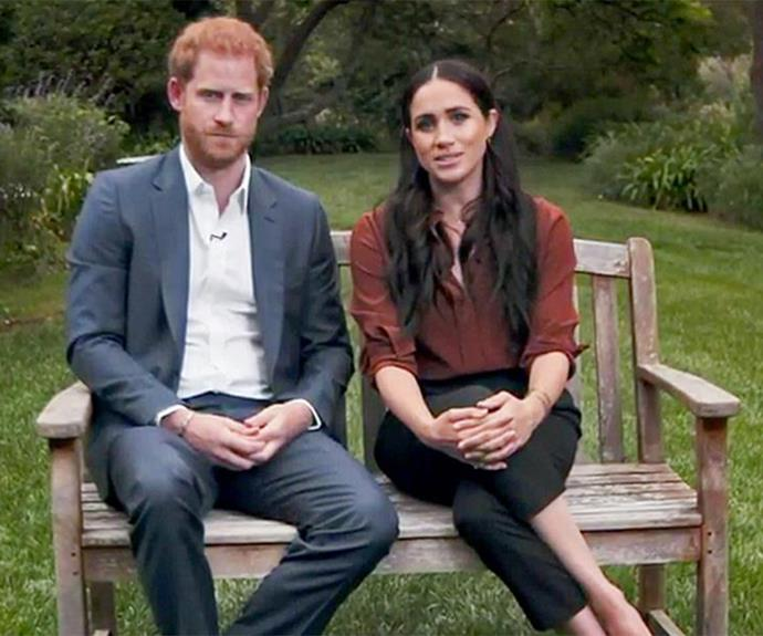 """The duchess embraced a return to wearing trousers when she and Harry made an [appearance in *TIME magazine's* live broadcast](https://www.nowtolove.com.au/royals/british-royal-family/meghan-markle-prince-harry-time-100-appearance-65346