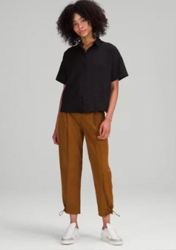 "Cotton-Blend Twill Trouser 7/8 Length, $159.00, from [Lululemon.](https://go.skimresources.com?id=105419X1569321&xs=1&url=https%3A%2F%2Fwww.lululemon.com.au%2Fen-au%2Fp%2Fcotton-blend-twill-trouser-7%252F8-length%2Fprod10641613.html target=""_blank"")"