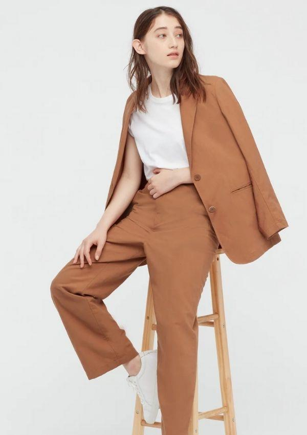 """Linen Blend Relaxed Straight Pants, $49.90, from [Uniqlo.](https://go.skimresources.com?id=105419X1569321&xs=1&url=https%3A%2F%2Fwww.uniqlo.com%2Fau%2Fen%2Fproducts%2FE436604-000%3FcolorCode%3DCOL34 target=""""_blank"""")"""