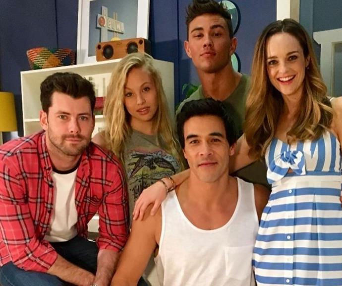 Penny took to Instagram to share a series of photos from her time on *Home and Away*.