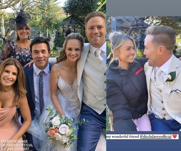 The whole cast looked like they had the famous wedding glow brides are known for donning.