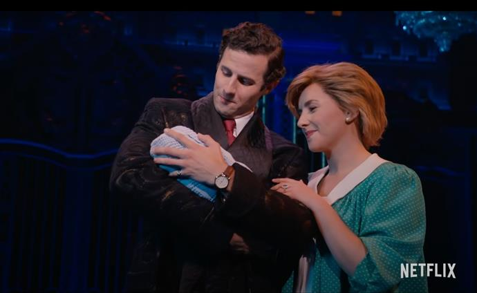 British actress Jeanna de Waal plays Diana whilst *Emily in Paris* star Roe Hartrampf plays Prince Charles.