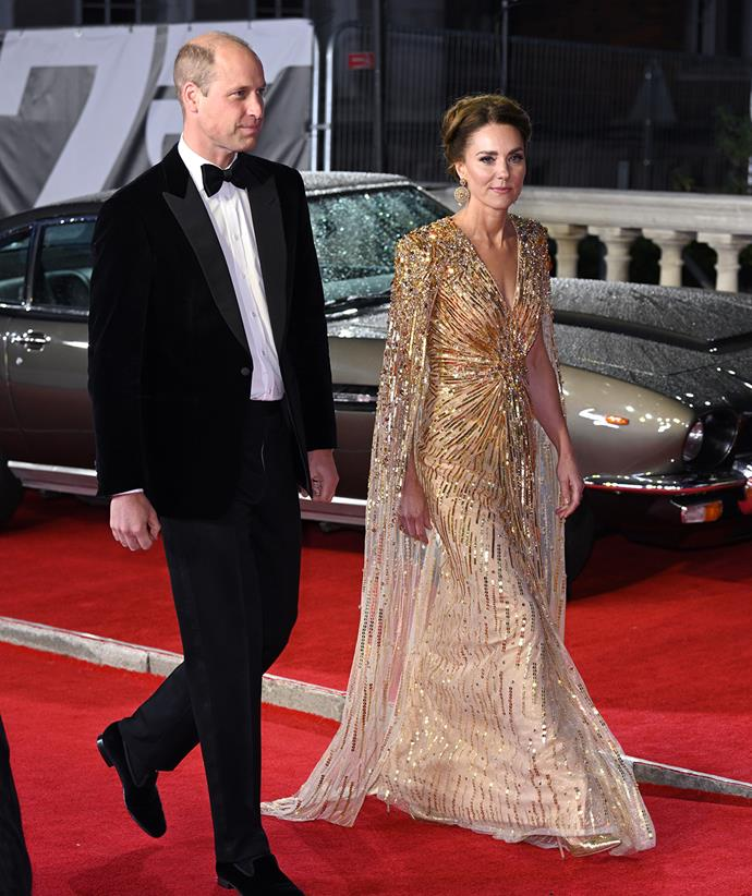 Catherine, Duchess of Cambridge attended the film premiere with Prince William.