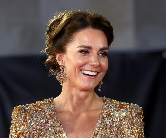 The duchess embraced a more dramatic makeup look.