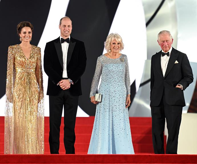 The royal foursome looked elegant as they walked the red carpet.