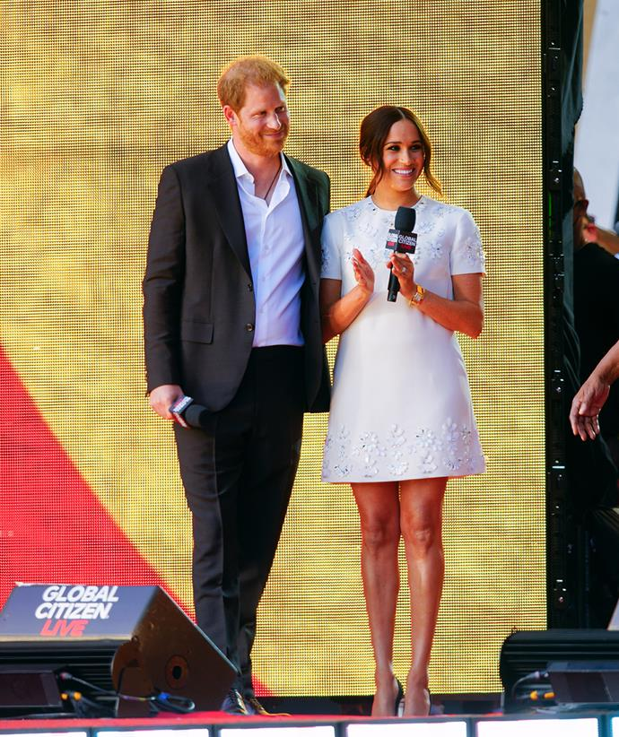 Prince Harry and Meghan Markle made a whirlwind trip to New York last week.