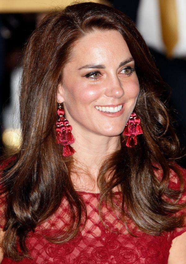 Her unique tasselled earrings were a fashion risk that paid off. They make their impact without feeling naff.
