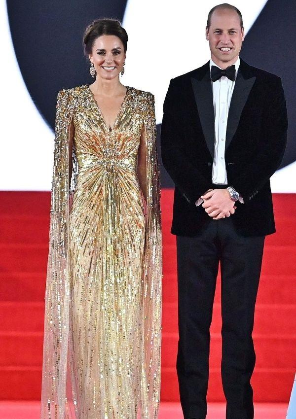 Kate shined bright in this divine Jenny Packham gown for the *No Time To Die* world premiere, and she looked a million bucks.