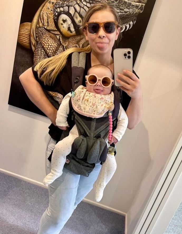 """While Chandler was in a meeting, his doting wife sent him this adorable picture from her day with little Grace. <br><br> """"My girls sent me this photo while I was in a Zoo meeting. It absolutely made my day, and I hope it makes yours too. These two always put a smile on my face😂❤️,"""" he proudly wrote."""