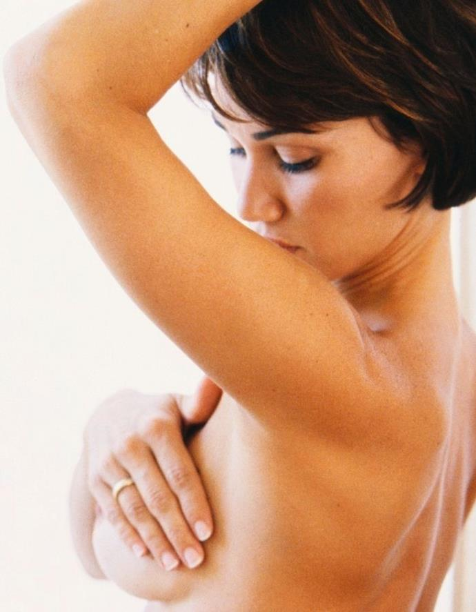Dr Jill recommends touching your breast like this in the shower.