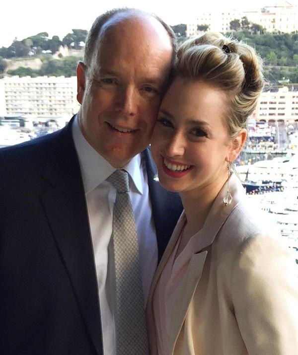 Prince Albert with his daughter from a previous relationship, Jazmin.