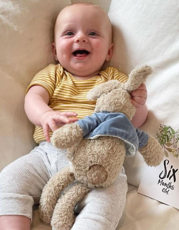 Six months already! Little Henry is absolutely adorable.