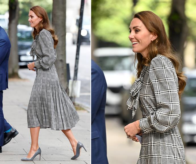 Catherine, Duchess of Cambridge donned a $30 Zara frock for the event.