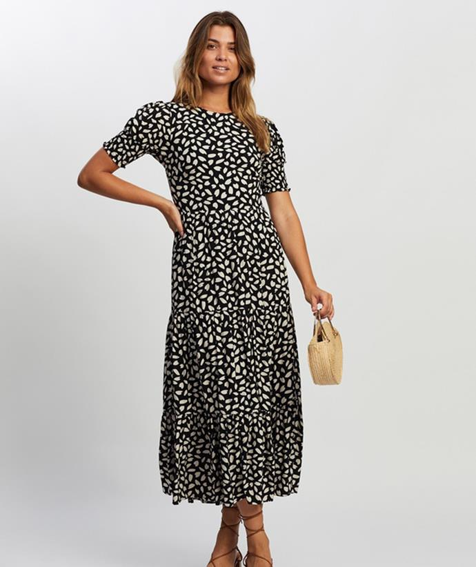 """[Atmos&Here Katie Midi Dress, $99.99, from The Iconic.](https://fave.co/3iAbR7a target=""""_blank"""" rel=""""nofollow"""")"""