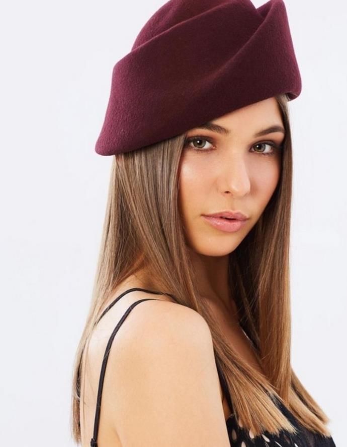 "Max Alexander Felt Designer Hat, $139.95, [The Iconic.](https://go.skimresources.com?id=105419X1569321&xs=1&url=https%3A%2F%2Fwww.theiconic.com.au%2Ffelt-designers-hat-481790.html target=""_blank"")"