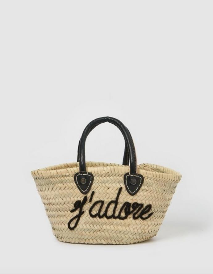 """Miz Casa And Co Jadore French Basket Bag, $79.00, [The Iconic.](https://go.skimresources.com?id=105419X1569321&xs=1&url=https%3A%2F%2Fwww.theiconic.com.au%2Fjadore-french-basket-bag-small-1297559.html target=""""_blank"""")"""