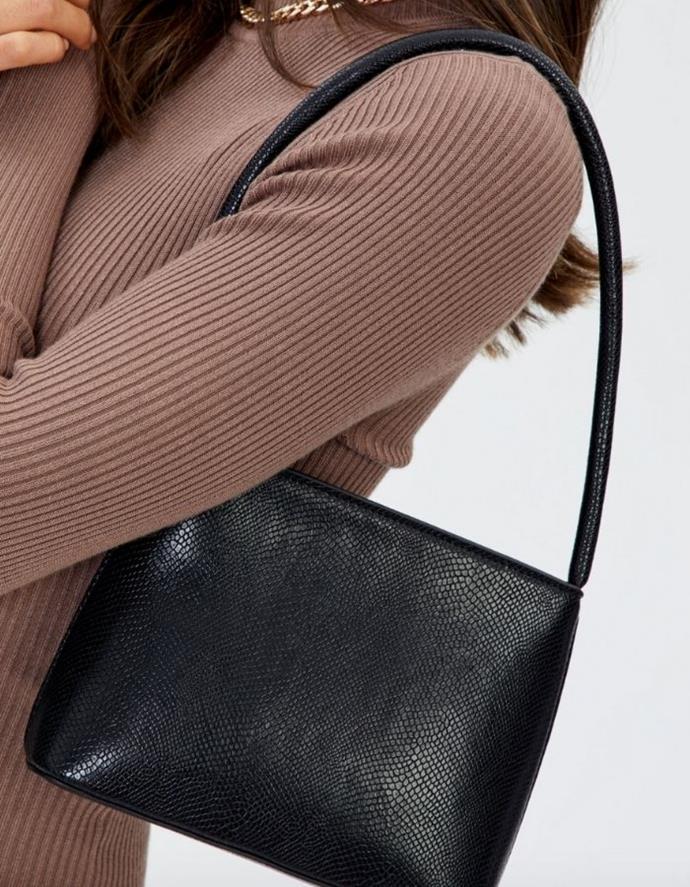 "Croc Mini Shoulder Bag, $29.99, [Glassons.](https://go.skimresources.com?id=105419X1569321&xs=1&url=https%3A%2F%2Fwww.glassons.com%2Fp%2Fcroc-mini-shoulder-bag-bg50686p-u-black target=""_blank"")"