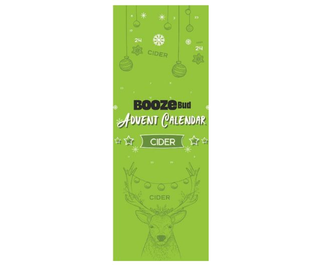 """**BoozeBud Cider Advent Calendar, $135 from [BoozeBud](https://www.boozebud.com/p/boozebud/cideradventcalendar