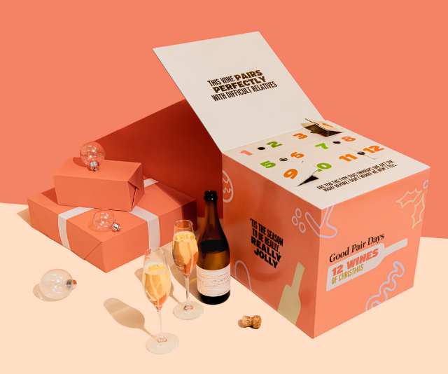 """**Twelve Wines Of Christmas, from $295 from [Good Pair Days](https://go.linkby.com/PIKMEAIT