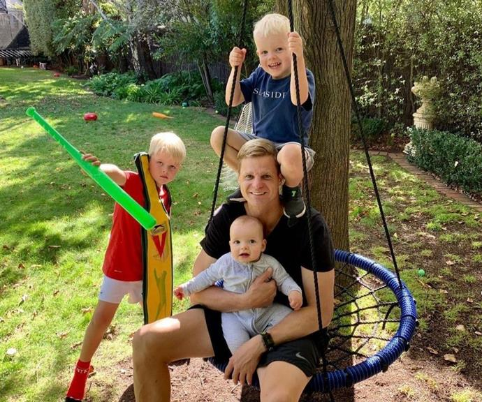 Sport is obviously a big part of the Riewoldt household.