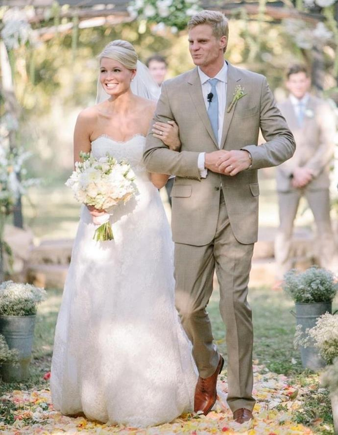 Catherine and Nick looked radiant on their big day in 2012.